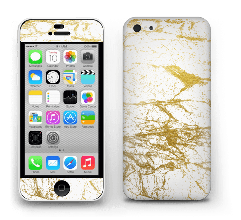 Hvitt og gull Skin IPhone 5c