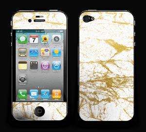 Hvitt og gull Skin IPhone 4/4s