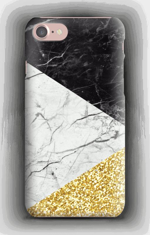 Svart Hvitt Gull deksel IPhone 7