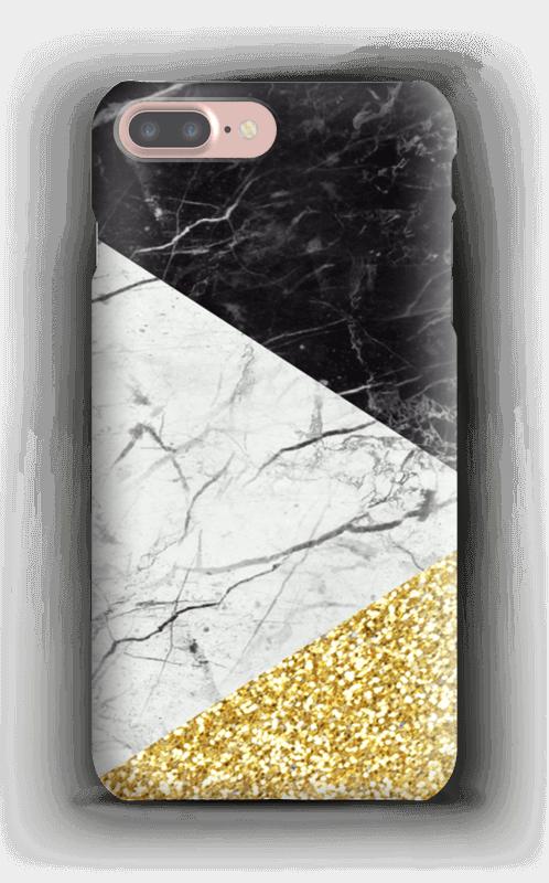 Sort Hvid Guld cover IPhone 7 Plus