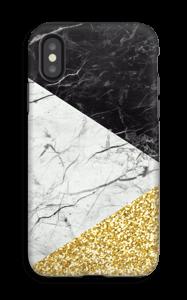 Branco, Preto e Dourado Capa IPhone X tough