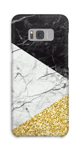 Zwart, Wit, Goud hoesje Galaxy S8 Plus