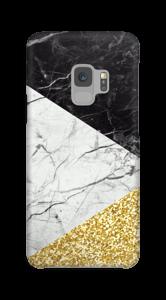 Zwart, Wit, Goud hoesje Galaxy S9