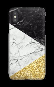 Svart Hvitt Gull deksel IPhone XS