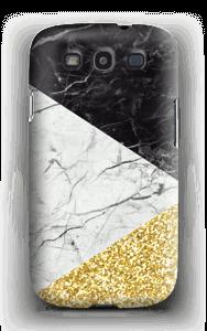 Branco, Preto e Dourado Capa Galaxy S3