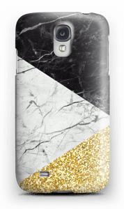 Svart Hvitt Gull deksel Galaxy S4