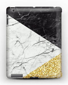 Black, White, Gold case, add your name to make it even more custom!