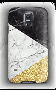 Branco, Preto e Dourado Capa Galaxy S5