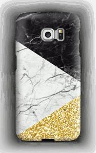 Schwarz weiß gold Handyhülle Galaxy S6 Edge