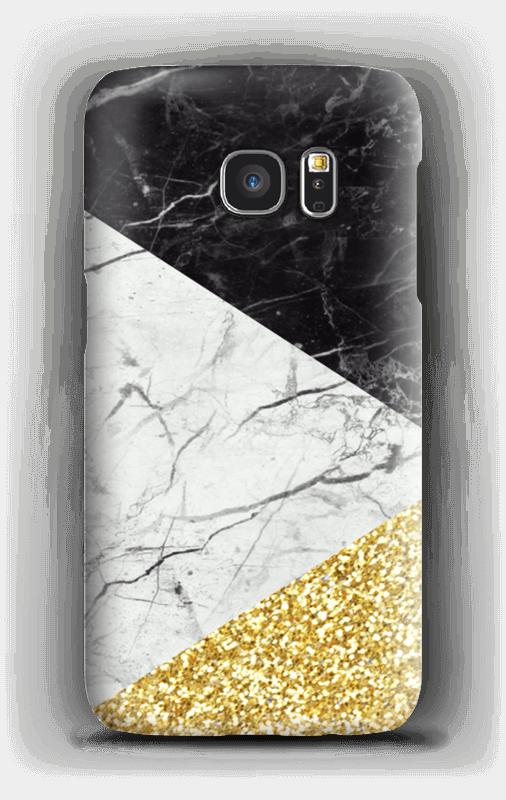Schwarz weiß gold Handyhülle Galaxy S7