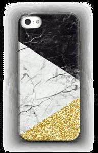 Zwart, Wit, Goud hoesje IPhone SE