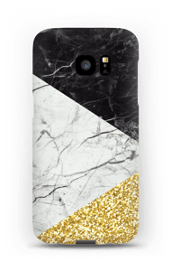 Sort Hvid Guld cover Galaxy S7 Edge
