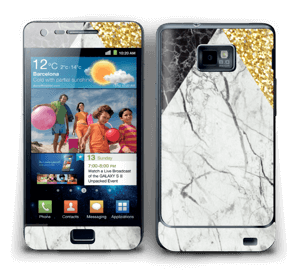 Gull, og to varianter av marmor Skin Galaxy S2