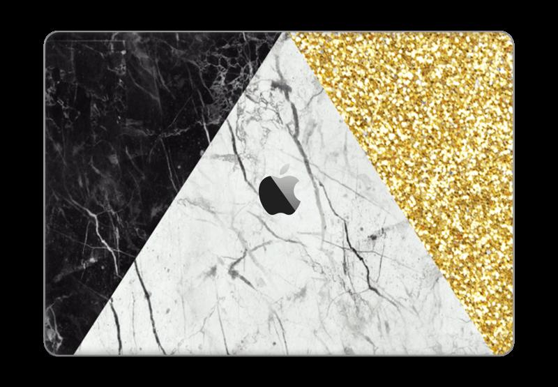 """Gull, og to varianter av marmor Skin MacBook Pro 15"""" 2016-"""