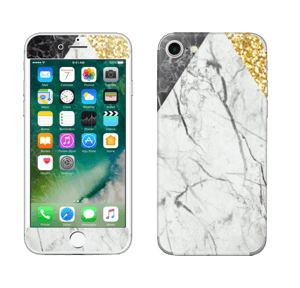 Gull, og to varianter av marmor Skin IPhone 7