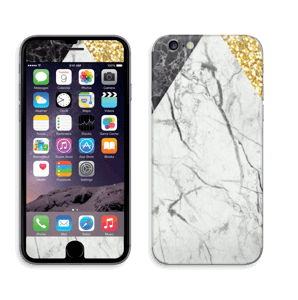 Gull, og to varianter av marmor Skin IPhone 6/6s