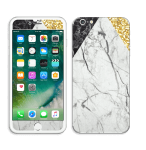 Gull, og to varianter av marmor Skin IPhone 6 Plus