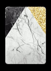 Guld och marmor i en härlig blandning