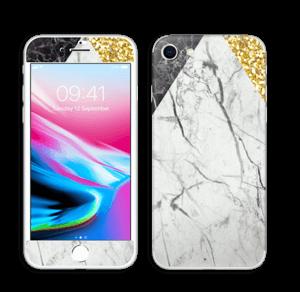 Gull, og to varianter av marmor Skin IPhone 8