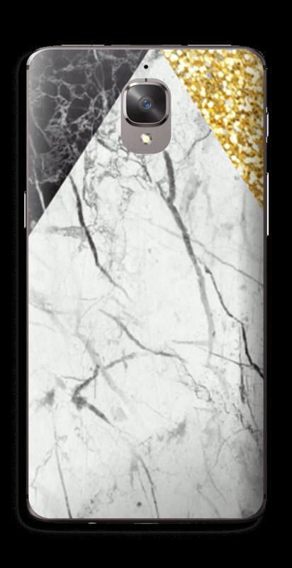 Gull, og to varianter av marmor Skin OnePlus 3