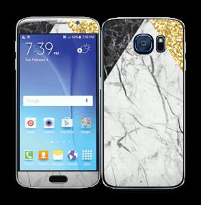 Gull, og to varianter av marmor Skin Galaxy S6