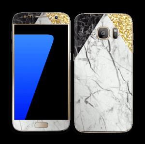 Gull, og to varianter av marmor Skin Galaxy S7