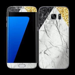 Gull, og to varianter av marmor Skin Galaxy S7 Edge