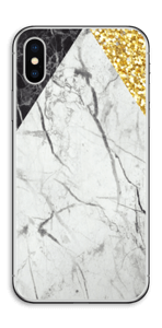 Gull, og to varianter av marmor Skin IPhone X