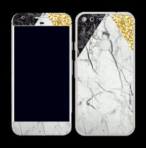 Gull, og to varianter av marmor Skin Pixel