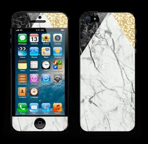 Gull, og to varianter av marmor Skin IPhone 5
