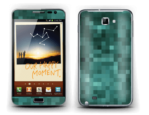 Grønn pixel Skin Galaxy Note