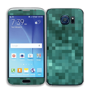 Grønn pixel Skin Galaxy S6