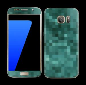 Green pixles Skin Galaxy S7