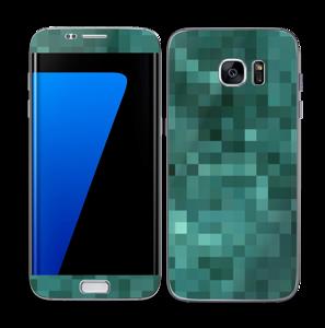 Green pixles Skin Galaxy S7 Edge