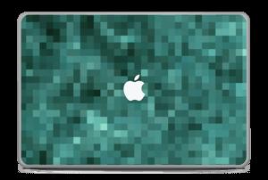 """Grønn pixel Skin MacBook Pro 17"""" -2015"""
