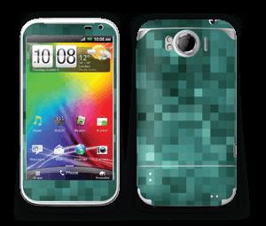 Grønn pixel Skin Sensation XL