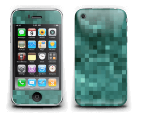 Grønn pixel Skin IPhone 3G/3GS