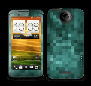 Grønn pixel Skin One X