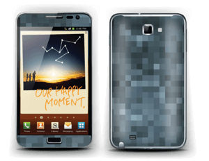 Gråblå pixel Skin Galaxy Note
