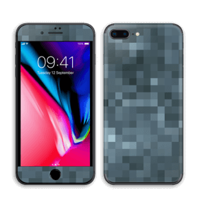 Gråblå pixel Skin IPhone 8 Plus