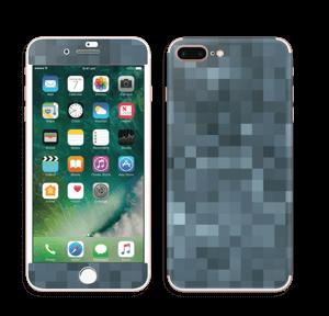 Gråblå pixel Skin IPhone 7 Plus