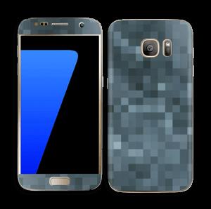 Pixelisé bleu Skin Galaxy S7
