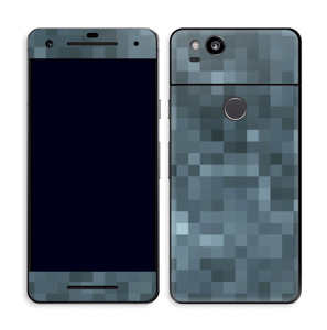 Gråblå pixel Skin Pixel 2