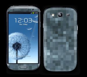 Gråblå pixel Skin Galaxy S3