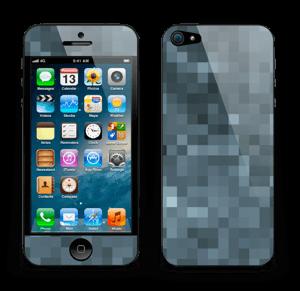 Gråblå pixel Skin IPhone 5