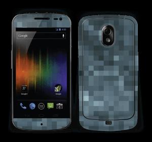 Gråblå pixel Skin Nexus