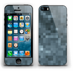 Gråblå pixel Skin IPhone 5s