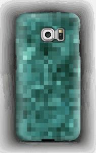 Pixels verdes Capa Galaxy S6 Edge