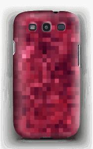 Pixels rosa Capa Galaxy S3
