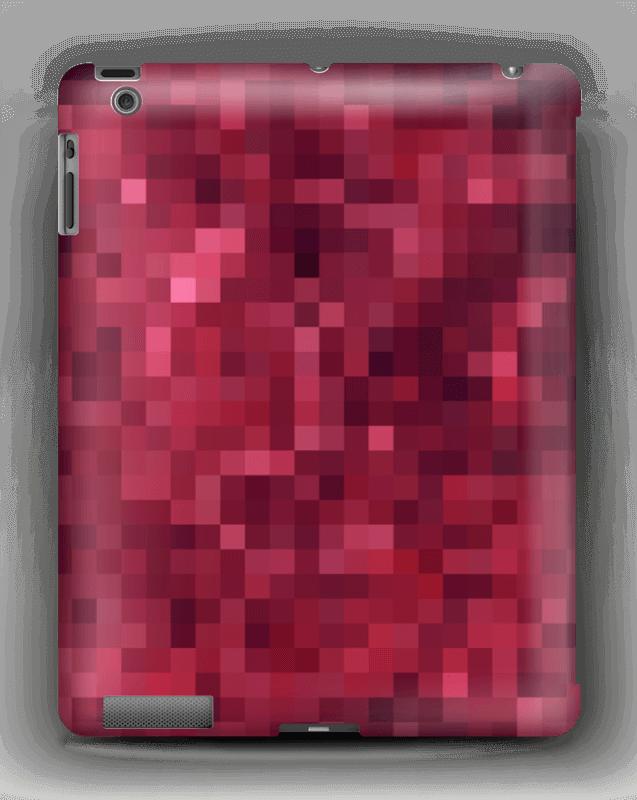 Punainen pikseli kuoret IPad 4/3/2
